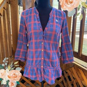 Abercrombie and Fitch Plaid Button Up Shirt